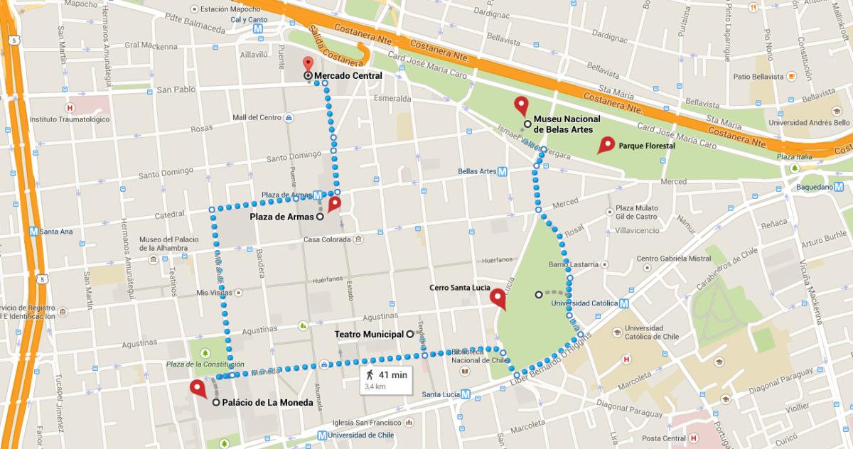 Mapa Santiago 2