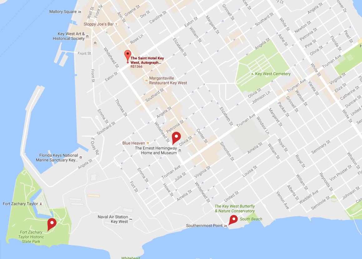 key-west-mapa