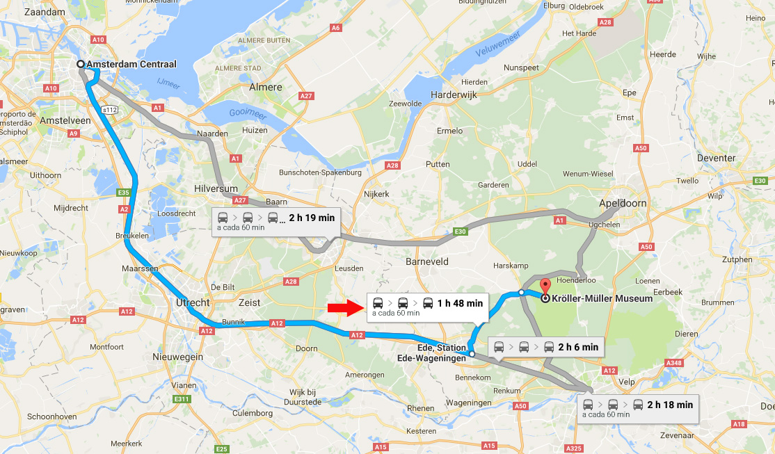 kroller-museum-mapa