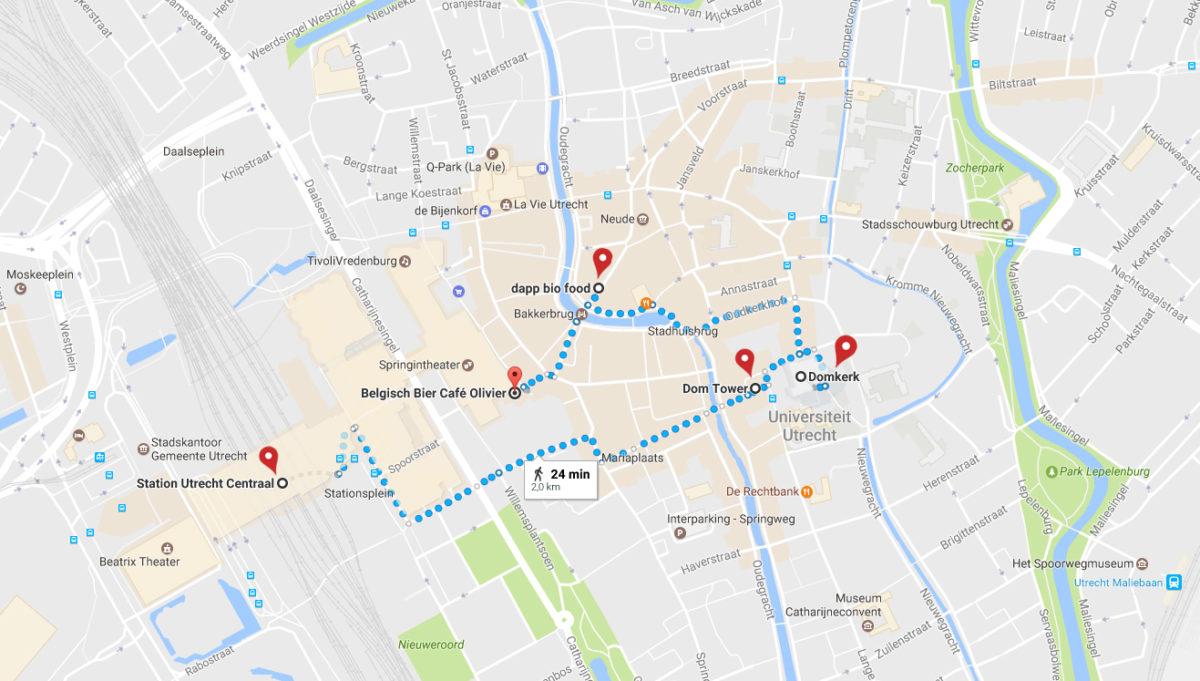 Utrecht mapa centro